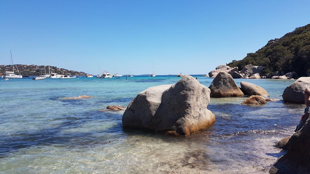 Santa Giulia, la parte sud con meno alghe