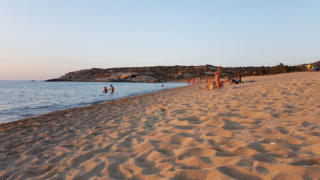 Spiaggia di Algajola al tramonto